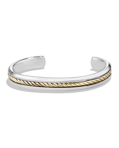 Men's Cable Inset Cuff Bracelet