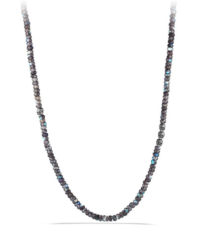 Spinel Beads Necklace with Skull Station