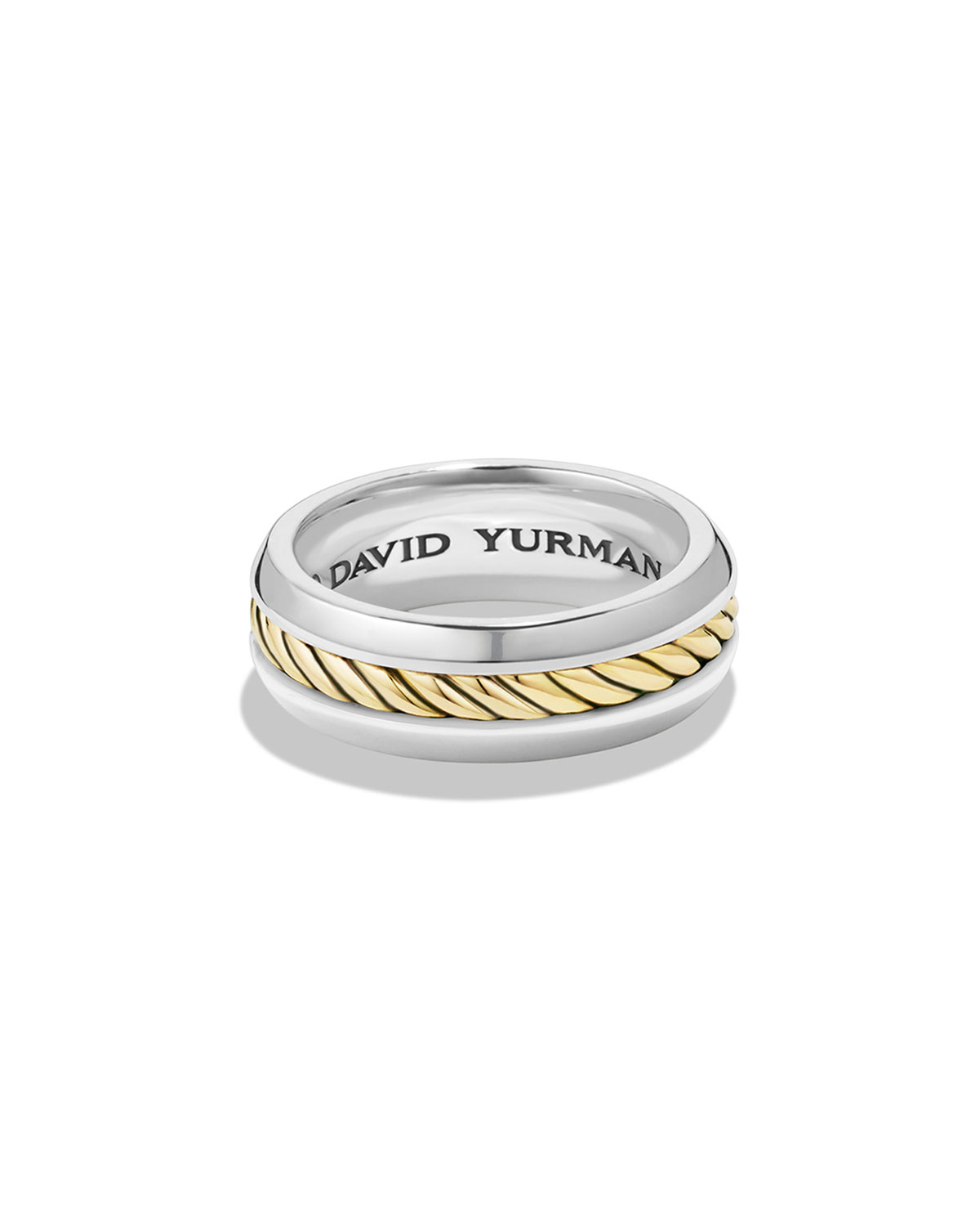 Men's Cable Classic Ring with 18K Gold