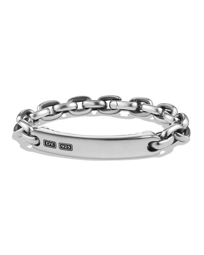 Oval Link Silver ID Bracelet