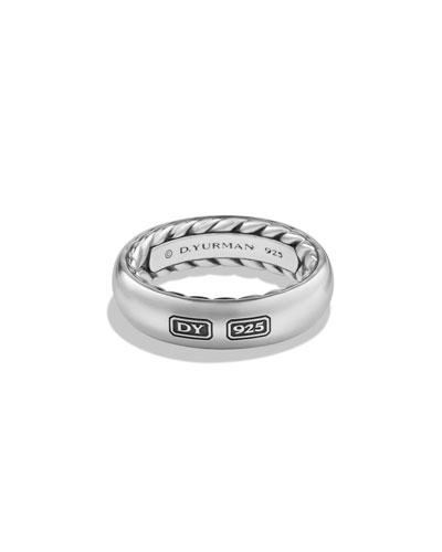 Streamline Men's Band Ring, Silver