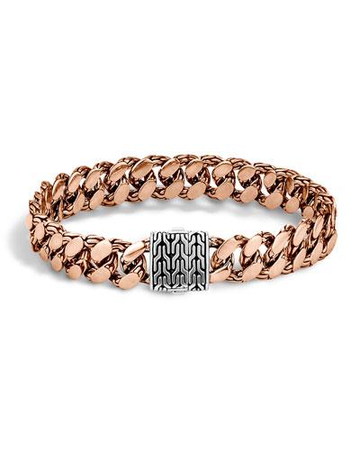 Men's Large Gourmette Chain Bracelet