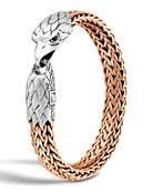 Men's Silver/Bronze Eagle Head Chain Bracelet