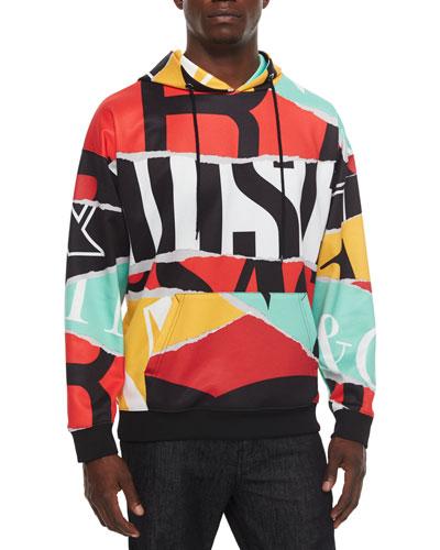 Multicolor Large Logo-Print Hoodie, Multi