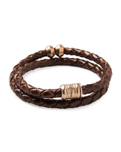 Brass Leather Casing Bracelet