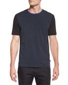 Colorblock Short-Sleeve Knit T-Shirt