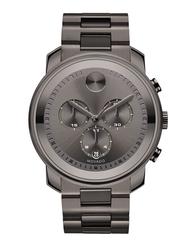 44mm Bold Chronograph Watch, Gray