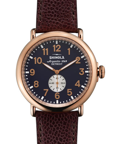 47mm Runwell Leather Watch