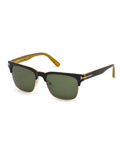 Vintage River Sunglasses, Black/Honey