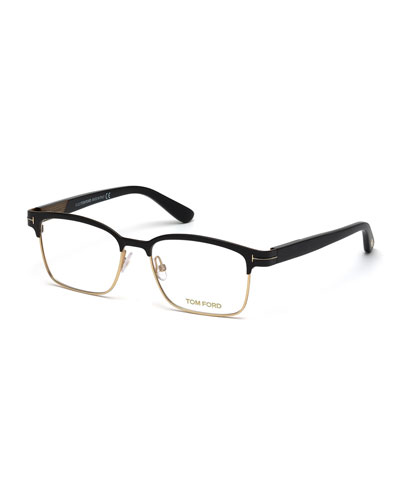4662ef4dc4c Quick Look. TOM FORD · Shiny Metal Square Eyeglasses ...