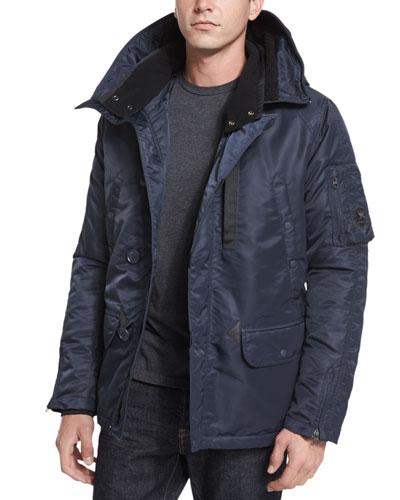 Heron Water-Resistant Snorkel Jacket, Navy