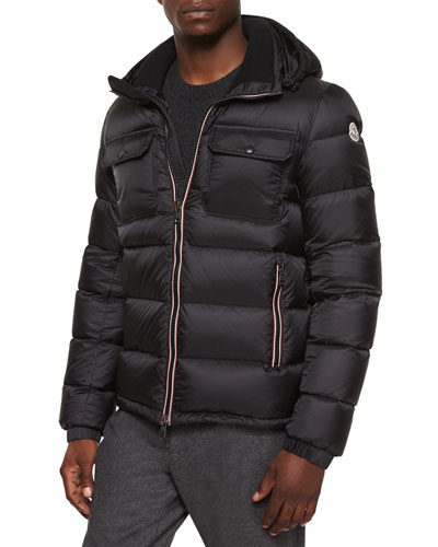 Demar Quilted Puffer Jacket, Black
