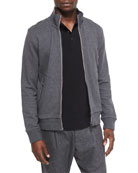 Full-Zip Track Jacket, Gray