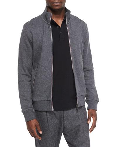 Full-Zip Track Jacket, Gray