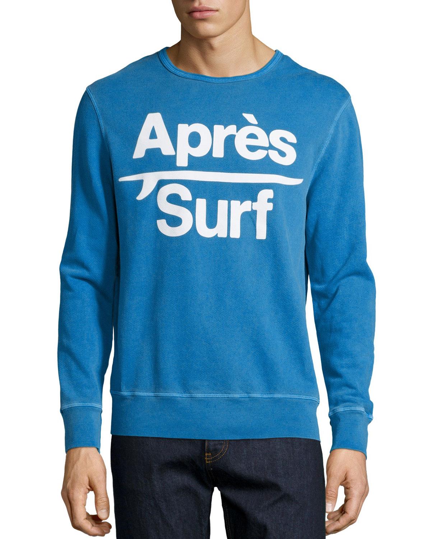 Aprés Surf Graphic Sweatshirt, Blue