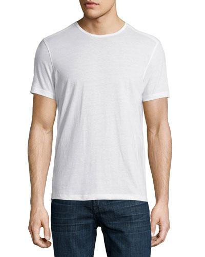 Short-Sleeve Crewneck T-Shirt, White