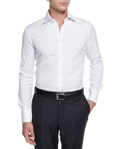 Long-Sleeve Woven Sport Shirt