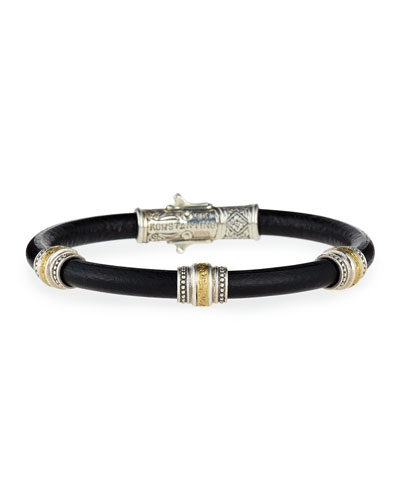 Phidias Men's Leather Cord Bracelet