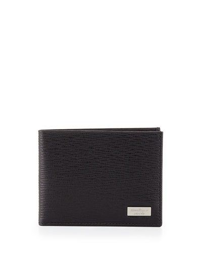 Revival Two-Tone Leather Bifold Wallet, Black/Red