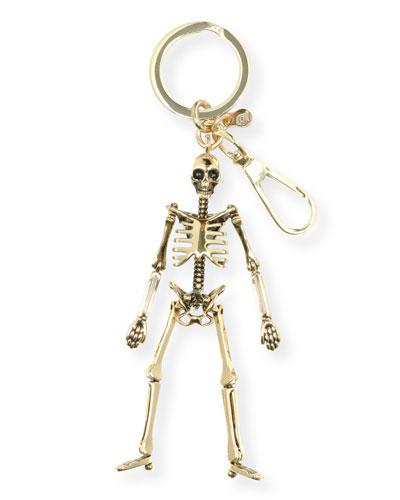 Brass Skeleton Key Ring