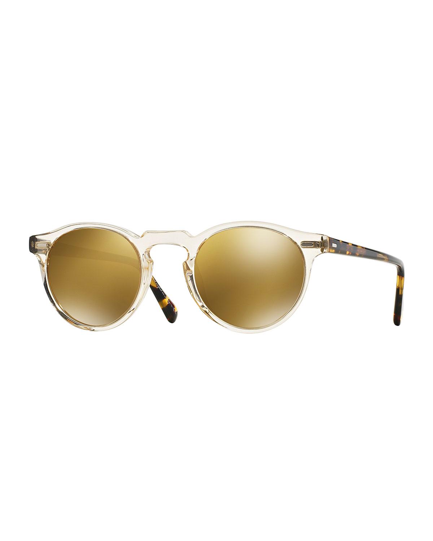 Gregory Peck 47 Round Sunglasses