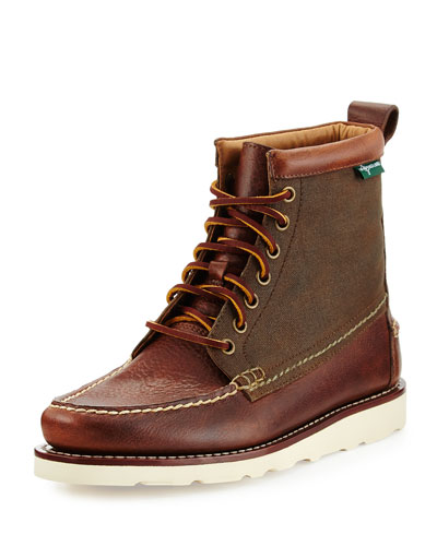 Sherman 1955 Leather Lace-Up Boot, Dark Tan