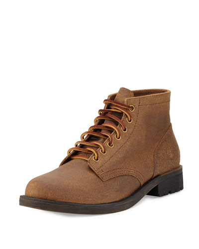 Jackson 1955 Distressed Suede Boot, Dark Khaki