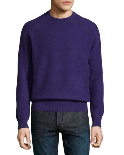 Neiman Marcus Cashmere by Billy Reid Sweater, Purple
