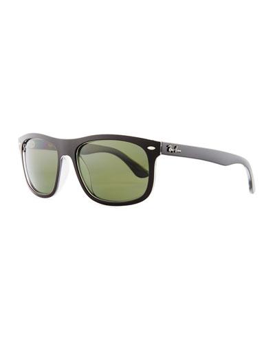 New Wayfarer Classic Sunglasses, Black