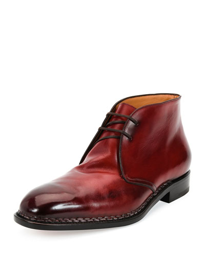 Palermo 2 Tramezza Special Edition Burnished Calfskin Chukka Boot with ...