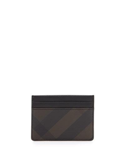 Smoke Check Card Case, Chocolate/Black