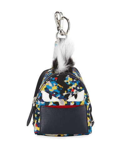 Confetti-Print Backpack-Shaped Charm for Bag/Briefcase