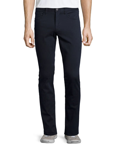 Essential Five-Pocket Stretch-Twill Pants, Navy
