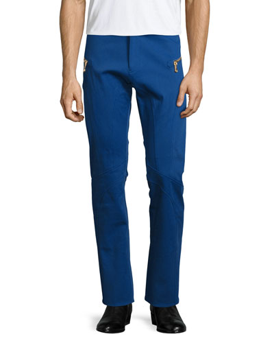 Straight-Leg Trousers, Blue