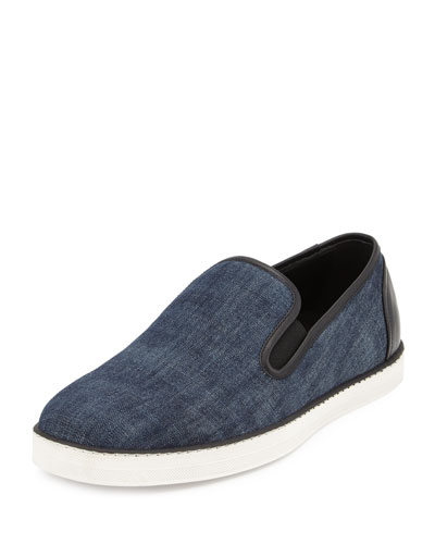 Denim Fabric Skater Shoe, Denim