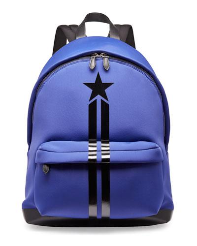 Star & Stripe Neoprene Backpack, Blue