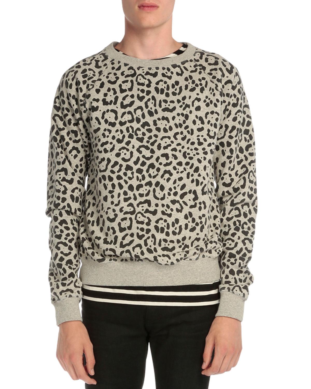 Leopard-Print Crewneck Sweatshirt