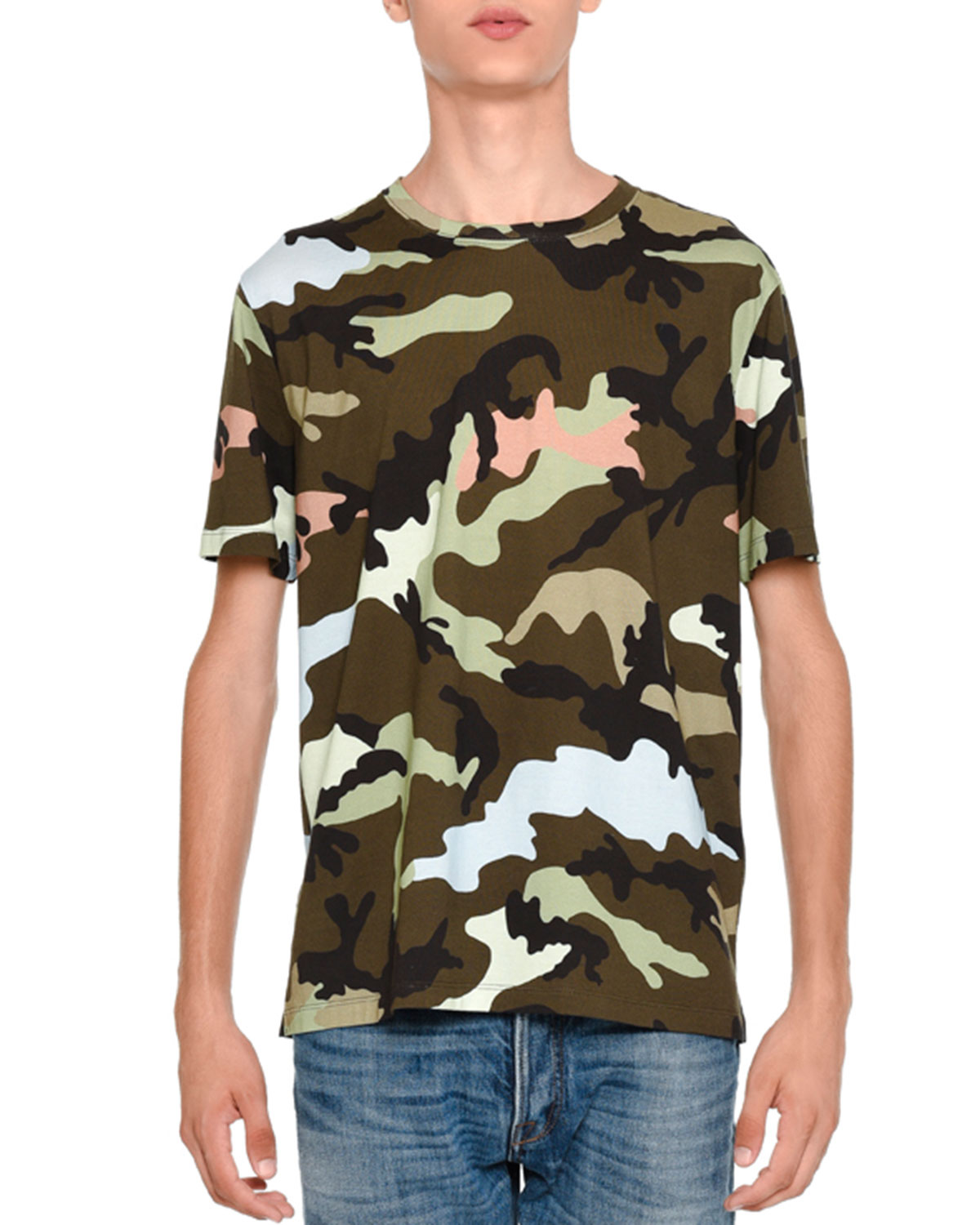 Camu Rockstud Short-Sleeve T-Shirt, Green