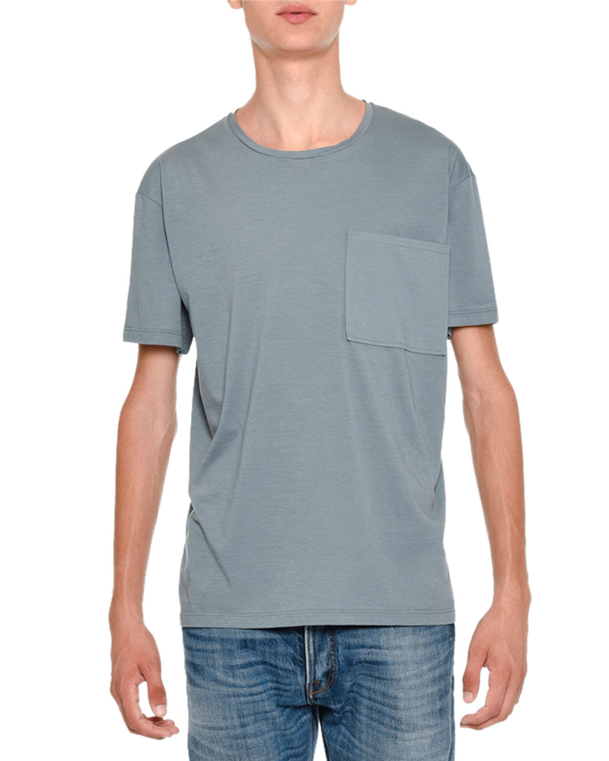 Rockstud Basic Crewneck Short-Sleeve T-Shirt, Light Blue