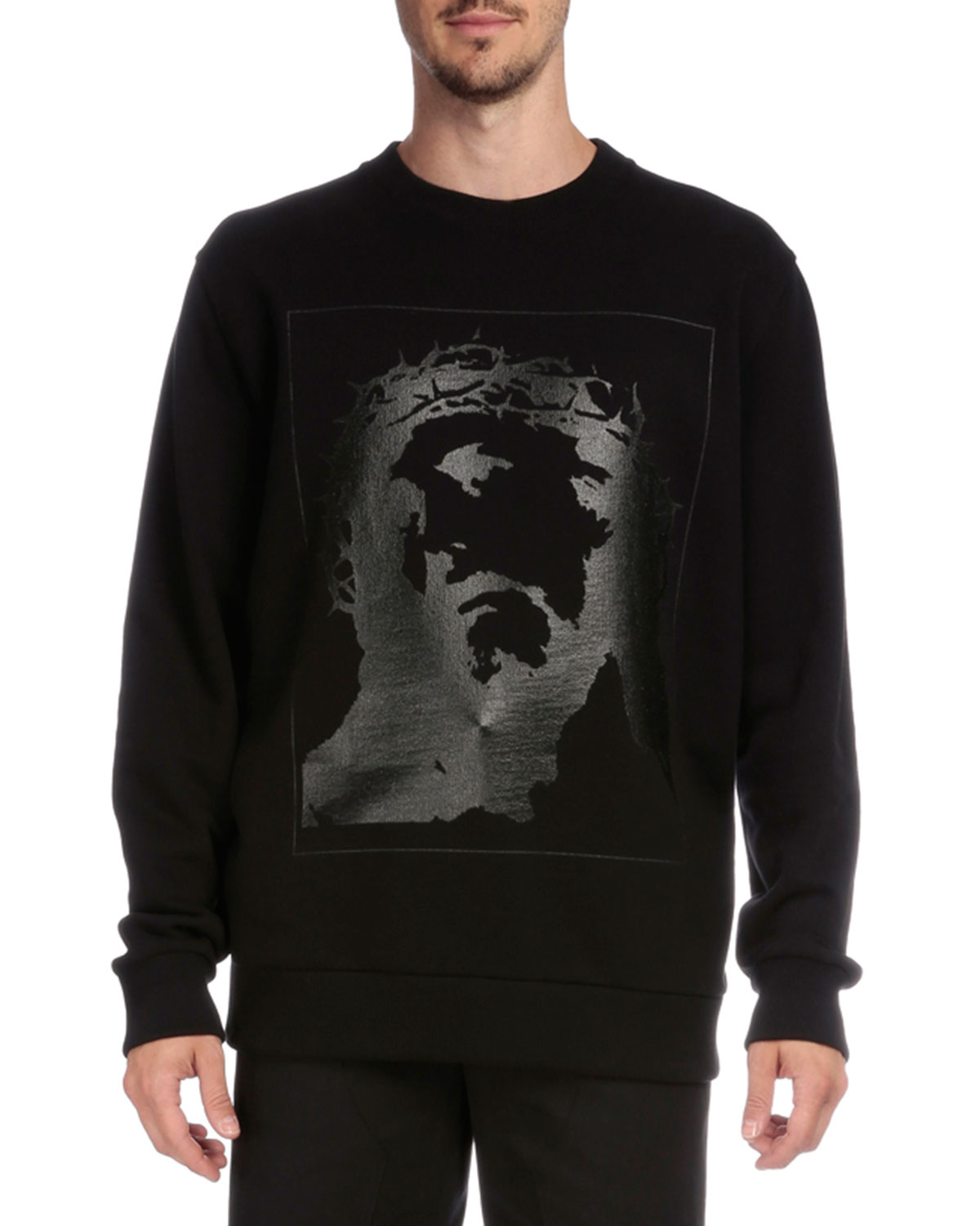 Tonal Graphic Sweatshirt, Black