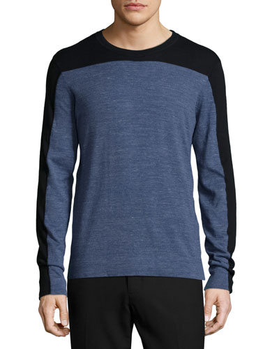 Jaspe Colorblock Crewneck Shirt, Blue