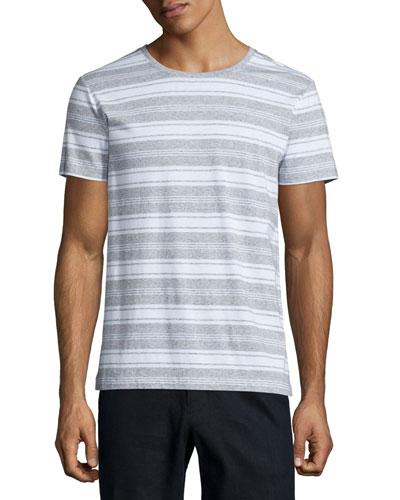 Jaspe Striped Short-Sleeve T-Shirt, Gray/White