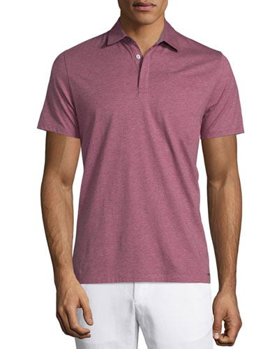 Cotton-Silk Short-Sleeve Polo Shirt