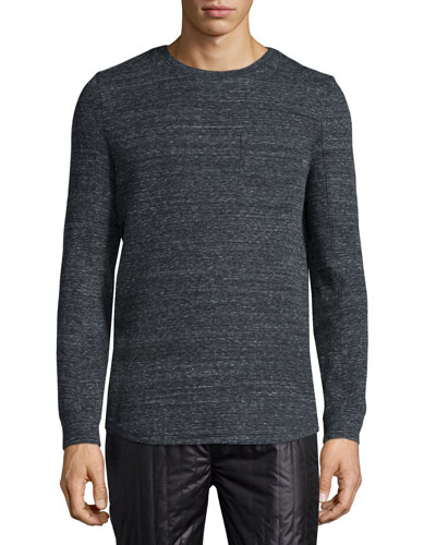 Melange Long-Sleeve T-Shirt, Dark Gray
