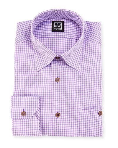 Check Dress Shirt, Purple