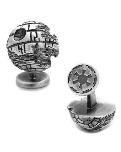 Star Wars 3D Death Star Cuff Links