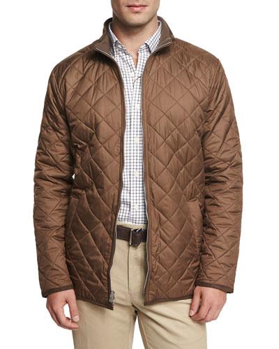 Chesapeake Lightweight Quilted Jacket, Dark Brown