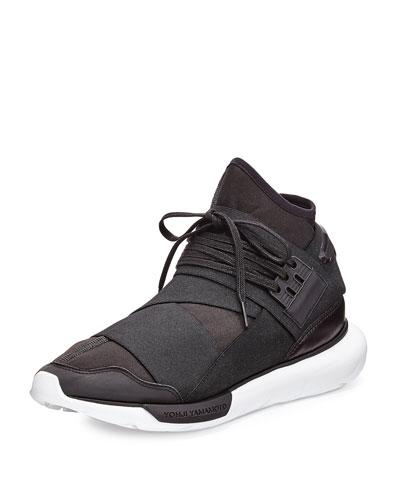 Qasa High-Top Trainer Sneaker, Black