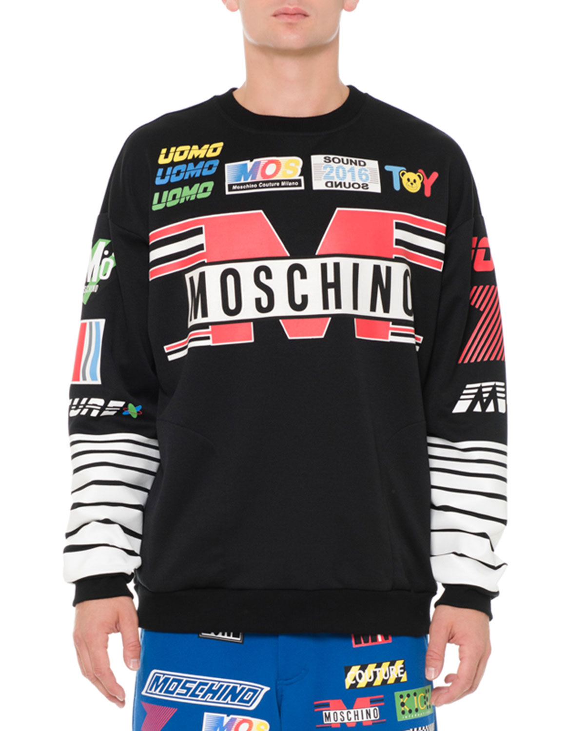 Logo-Print Graphic Sweatshirt, Black