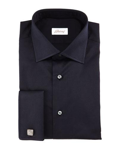 Tonal Micro-Dot Dress Shirt, Multi